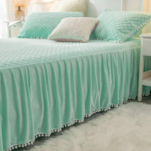Load image into Gallery viewer, Softy Mint Bed Skirt - Tapestry Girls