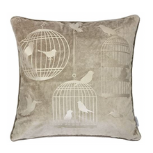 Load image into Gallery viewer, Mocha Bird Luxury Pillow - Tapestry Girls