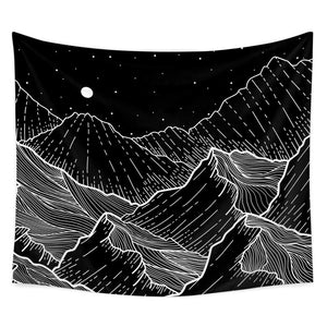 Mountain Night Tapestry - Tapestry Girls