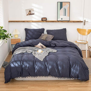 The Softy Pom Pom Navy Bed Set
