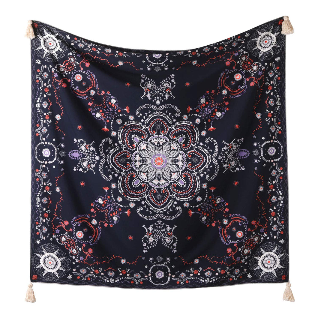 Navy Medallion Tapestry - Tapestry Girls