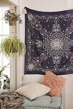 Load image into Gallery viewer, Navy Medallion Tapestry - Tapestry Girls