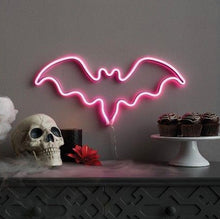 Load image into Gallery viewer, Neon Bat Sign - Tapestry Girls