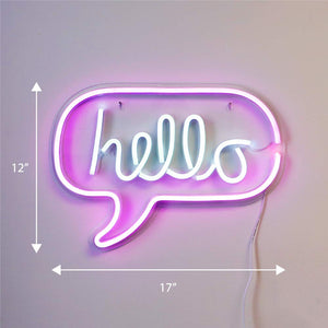 Neon Hello Sign - Tapestry Girls