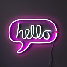 Load image into Gallery viewer, Neon Hello Sign - Tapestry Girls