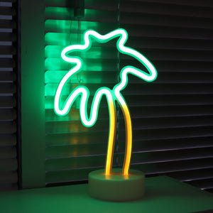 12 Inch Mini Neon Palm Tree - Tapestry Girls