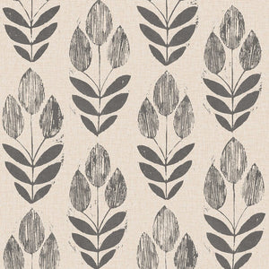 Neutral Tulip Removable Wallpaper - Tapestry Girls
