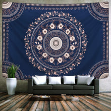 Load image into Gallery viewer, Oat & Navy Floral Tapestry - Tapestry Girls