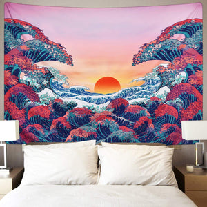 Ocean Sunset Tapestry - Tapestry Girls