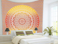 Load image into Gallery viewer, Orange Mandala Tapestry - Tapestry Girls