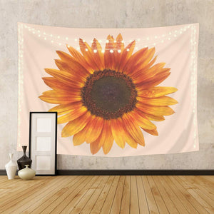 Peach Sunflower Tapestry - Tapestry Girls