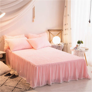 Softy Pink Bed Skirt - Tapestry Girls