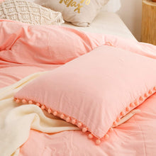Load image into Gallery viewer, The Softy Pom Pom Pink Bed Set