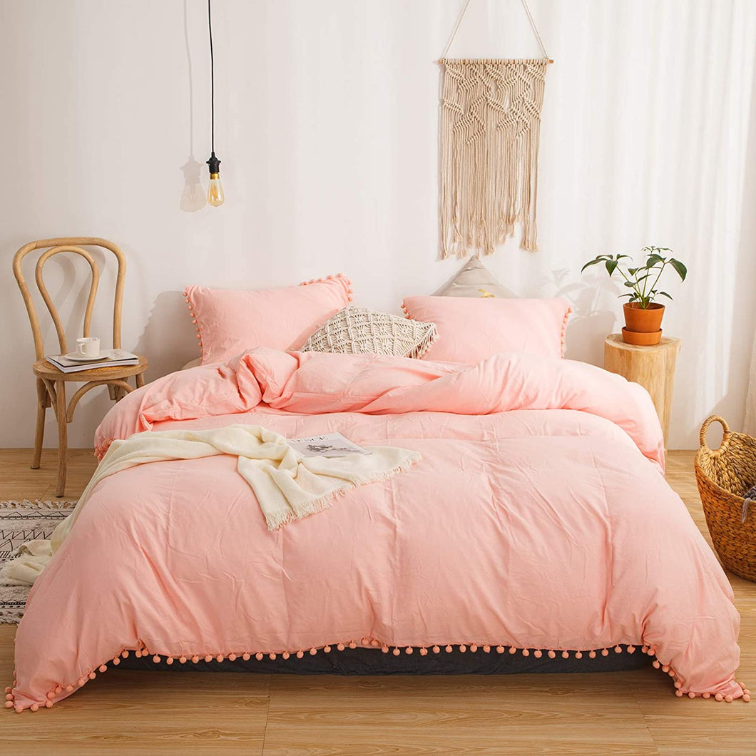 The Softy Pom Pom Pink Bed Set