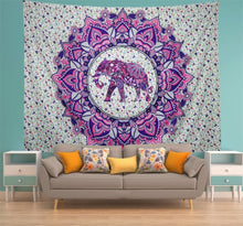 Load image into Gallery viewer, Pink Elephant Tapestry - Tapestry Girls