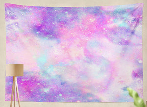 Pink Galaxy Tapestry - Tapestry Girls