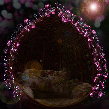 Load image into Gallery viewer, Pink Globe Lights - Tapestry Girls