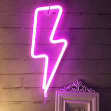 Load image into Gallery viewer, Pink Neon Lightning Bolt - Tapestry Girls