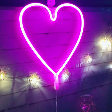 Neon Pink Heart - Neon Sign | Tapestry Girls