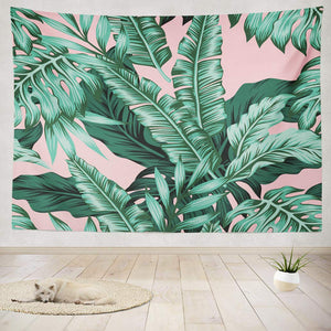 Pink Palm Tapestry - Tapestry Girls
