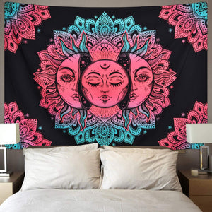 Pink Sun Tapestry - Tapestry Girls