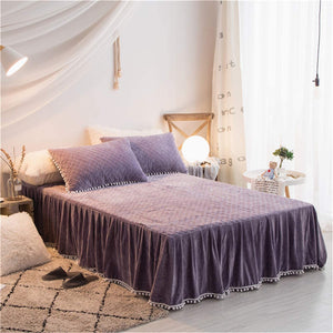 Softy Purple Bed Skirt - Tapestry Girls