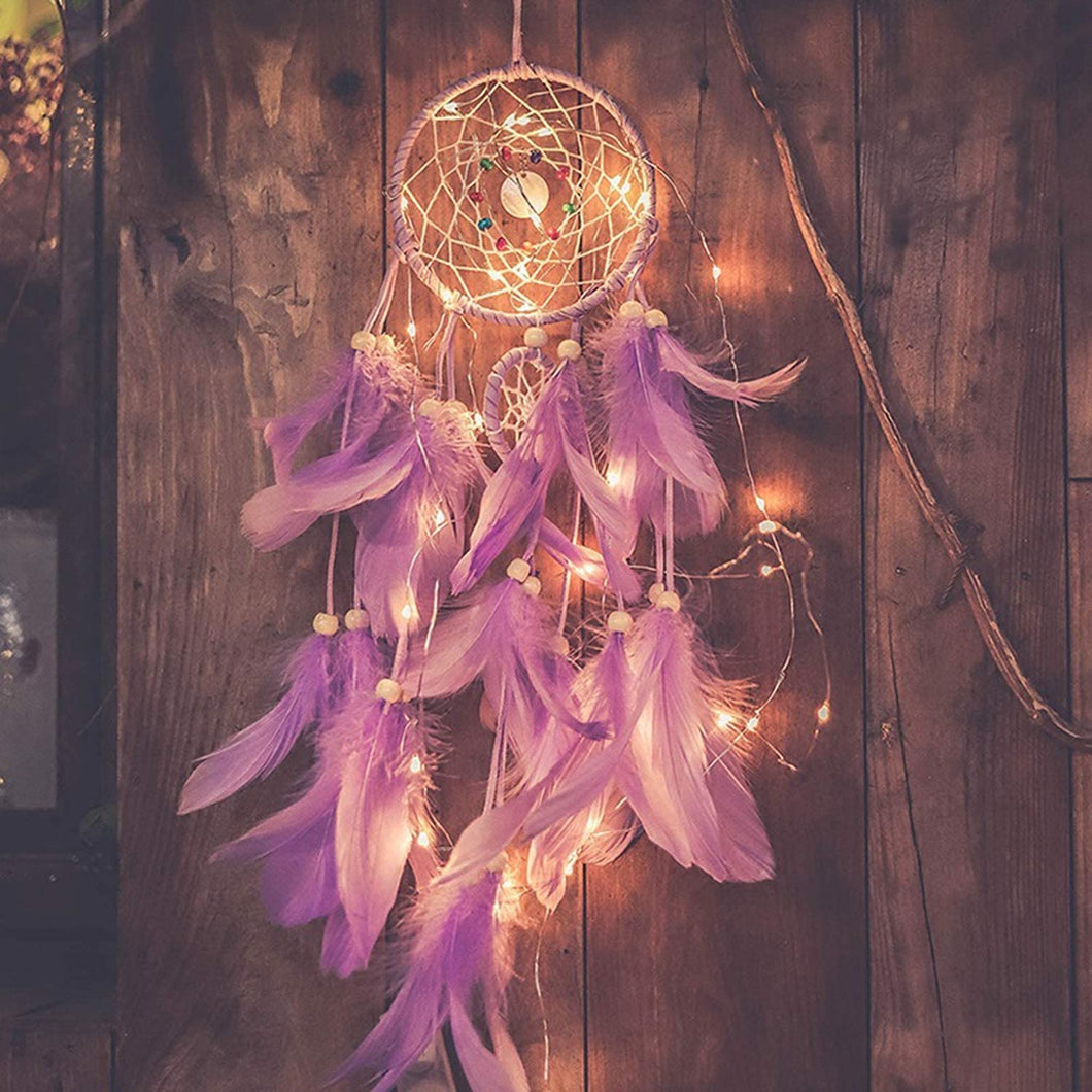 Purple Dreamcatcher w/Lights - Tapestry Girls