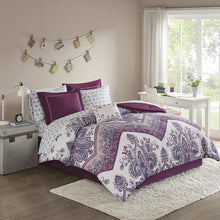 Load image into Gallery viewer, The Floral Paisley Purple Bed Set - Tapestry Girls