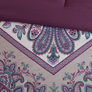 The Floral Paisley Purple Bed Set - Tapestry Girls