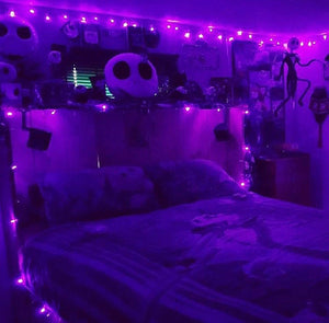 Purple LED Fairy Lights - Tapestry Girls