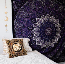 Load image into Gallery viewer, Purple Star Mandala Tapestry - Tapestry Girls