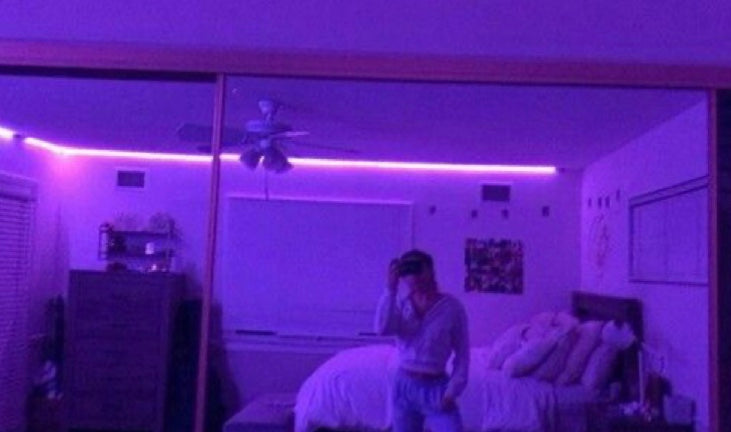 Edge LED Purple Lights