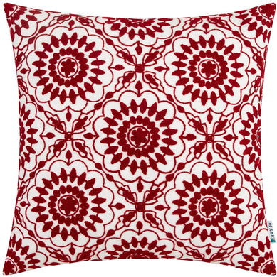 Red Floral Pillow - Tapestry Girls
