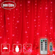 Load image into Gallery viewer, Red LED Curtain Lights - Tapestry Girls
