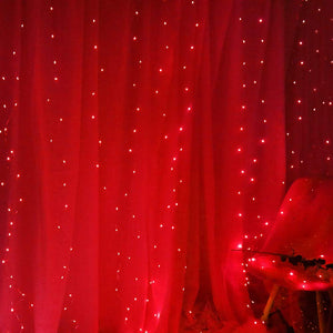 Red LED Curtain Lights - Tapestry Girls