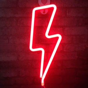 Red Neon Lightning Bolt - Tapestry Girls