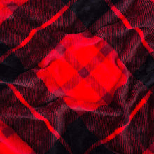 Load image into Gallery viewer, Red Plaid Fleece Blanket - Tapestry Girls