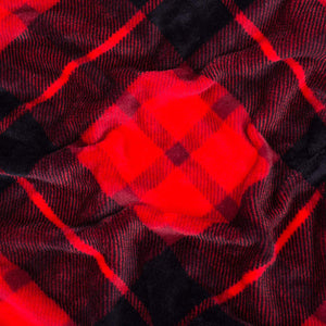 Red Plaid Fleece Blanket - Tapestry Girls