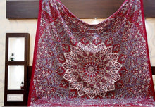 Load image into Gallery viewer, Red Star Mandala Tapestry - Tapestry Girls