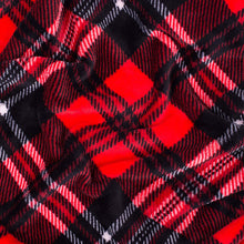 Load image into Gallery viewer, Red and White Plaid Fleece Blanket - Tapestry Girls