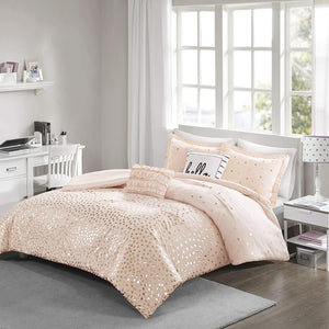 The Metallic Rose Gold Bed Set - Tapestry Girls