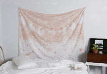 Load image into Gallery viewer, Rose Gold Moon Phase Tapestry - Tapestry Girls