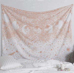 Rose Gold Moon Phase Tapestry - Tapestry Girls