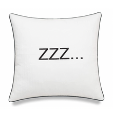 Load image into Gallery viewer, White ZZZ Pillow - Tapestry Girls