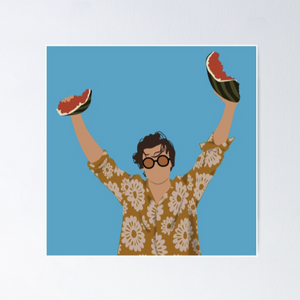Harry Holding Watermelon Poster