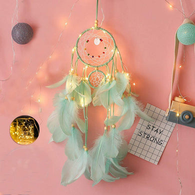 Sea Foam Dreamcatcher w/Lights - Tapestry Girls