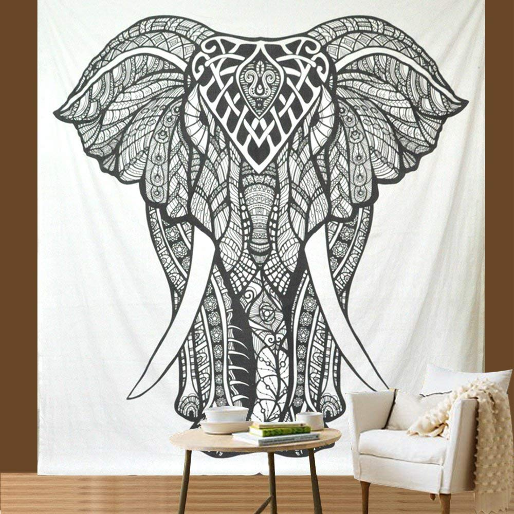 Elephant White Tapestry - Tapestry Girls
