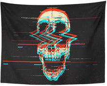 Load image into Gallery viewer, Skull Glitch Tapestry - Tapestry Girls