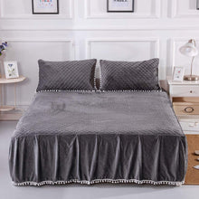 Load image into Gallery viewer, Softy Dark Gray Bed Skirt - Tapestry Girls