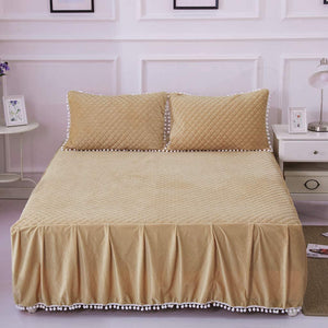 Softy Tan Bed Skirt - Tapestry Girls